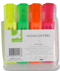 Q CONNECT KF01116  Highlight - Assorted 4Pk